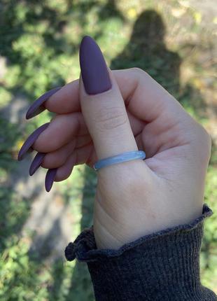 Натуральный голубой агат кольцо колечко