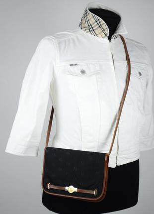 Оригинальная винтажная сумка - мессенджер christian dior france монограмнная барсетка клатч кошелёк через плечо