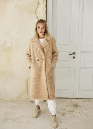 Классная модная натуральная шубка из овечьей шерсти