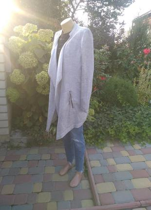 Фирменный пиджак-кардиган лен