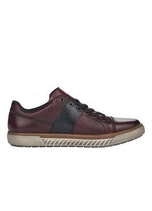Оригінальні чоловічі шкіряні кросівки rieker (17920/35)