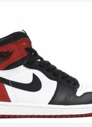 Jordan 1 retro high og black toe 2016 release original
