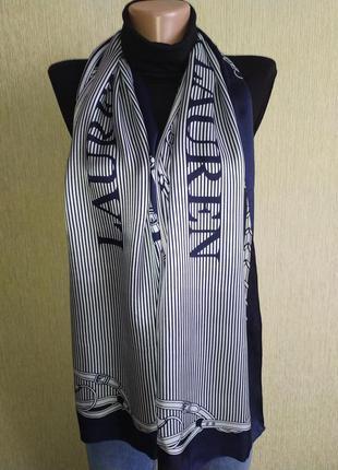 Прекрасный фирменный шарф из натурального шелка