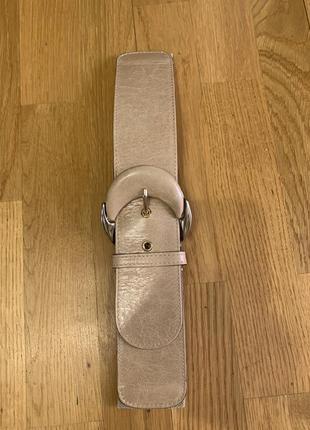 Широкий кожаный пояс ремень-резинка reiss на размер s