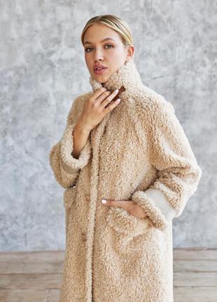 Бестселлер шубка из натуральной стриженной овечьей шерсти