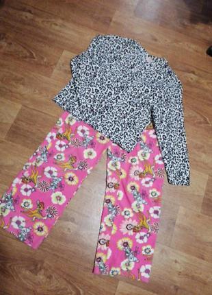Женский костюм для дома и сна пижама теплая