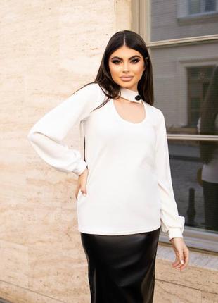 Белая блуза ангоровая. 3 расцветки.