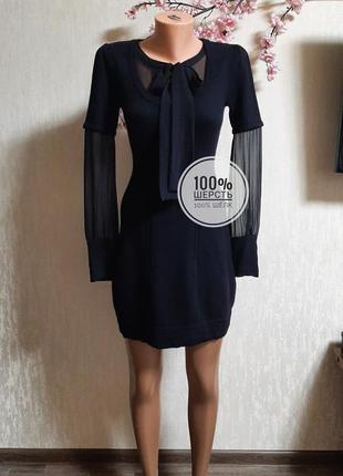 Теплое красивое платье шерсть англия🖤