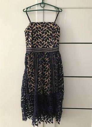 Платье с высевкой