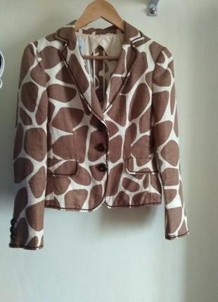 Льняной пиджак moschino