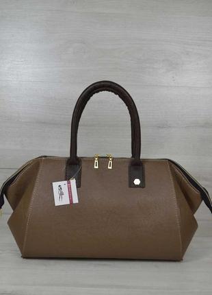 Классическая женская сумка оливия кофейного цвета