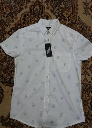 Фірмова англійська бавовняна рубашка сорочка cedarwood state,нова з бірками,розмір s-xs.