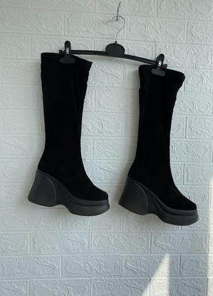 Сапоги чулки ботинки на грубой подошве