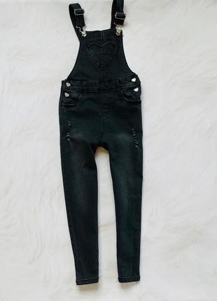 Denim стильный джинсовый комбинезон на девочку  6-7 лет