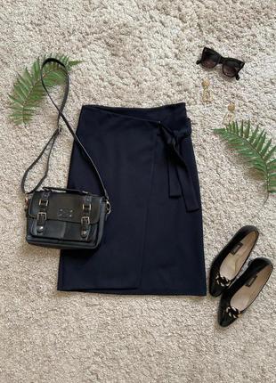 Базовая трикотажная юбка с имитацией запаха №3