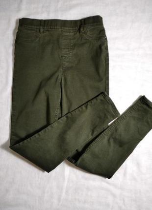 Трендовые джинсы джеггинсы скинни с высокой посадкой  от f&f