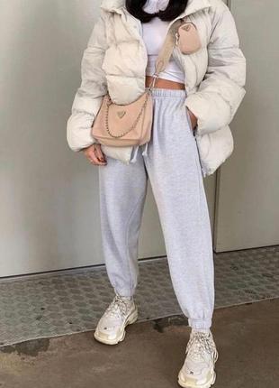 Женские тёплые спортивные штаны на флисе