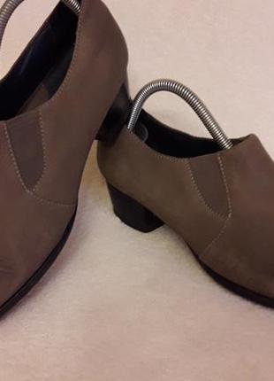 Кожаные туфли фирмы sioux p. 39 стелька 25,5 см