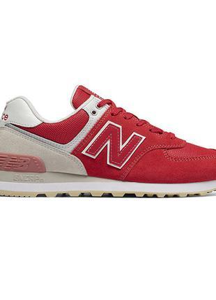 Кроссовки new balance 574 modern classics suede red white красные женские wl574tad