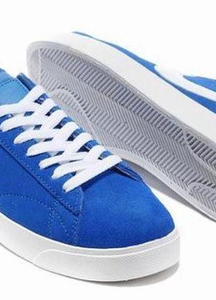 Кеды nike blazer low blue синие мужские