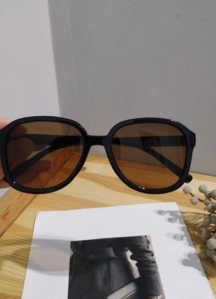 Тренд новые солнцезащитные очки черный большие коричневые окуляри сонцезахисні великі