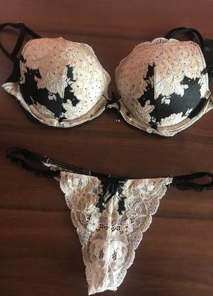 Черный  секси комплект victoria's secret