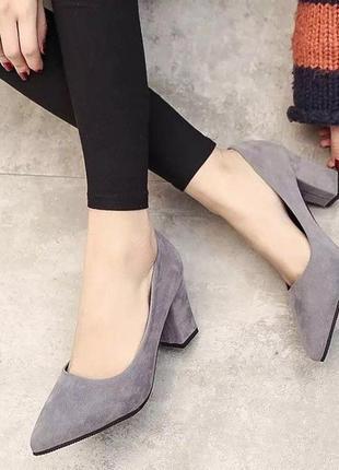 Натуральные замшевые туфли фирмы unisa p. 38 стелька 24,5 см