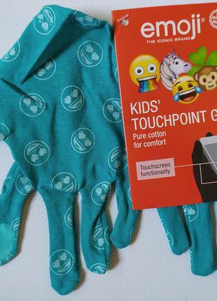 Детские перчатки с тачскрин, сенсорные, lidl размер 5 бирюзовые