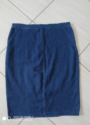 Джинсова стрейчева юбка олівець waredenim
