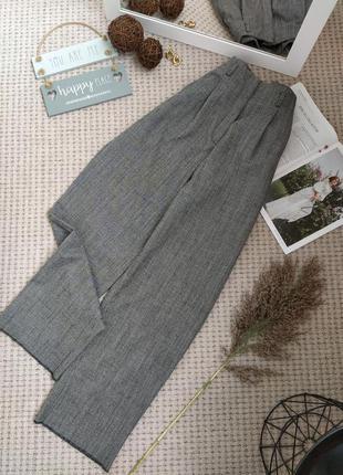 Крутые шерстяные широкие брюки odeeh