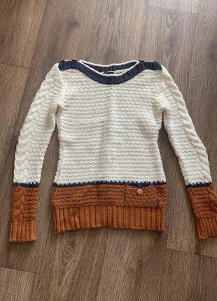 Свитер тёплый нарядный, тёплый зимняя кофта, светр зима