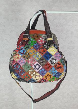 Кожаная сумка печворк и 121720