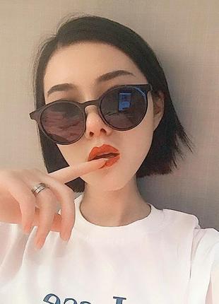 Актуальные солнцезащитные очки черный тренд новые окуляри сонцезахисні універсальні чорні