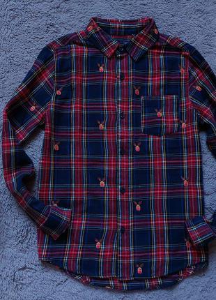 Новогодняя рубашка для мальчика