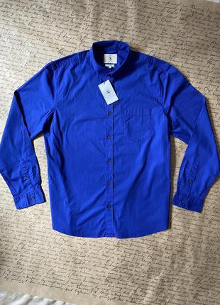 🔥новая синяя рубашка хлопок xl бренд aigle