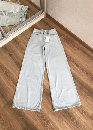 Клеш джинсы zara с широкими штанинами