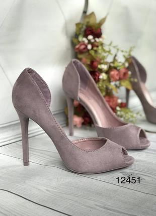 Лиловые туфли женские,пурпурные