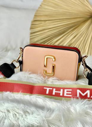 Женская сумочка marc jacobs pink/red розового цвета
