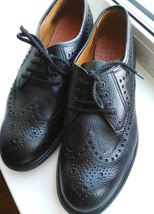 Классические английские туфли, броги, оксфоры, дерби dryfoot, р.7 (41), 26. 5см