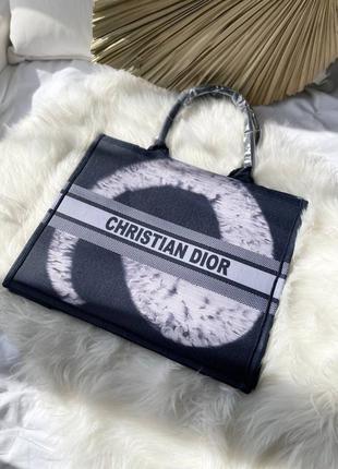 Женская сумка-шопер christian dior book dark blue