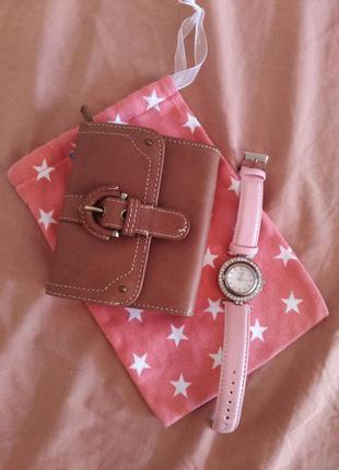 Кожаный кошелёк. новый