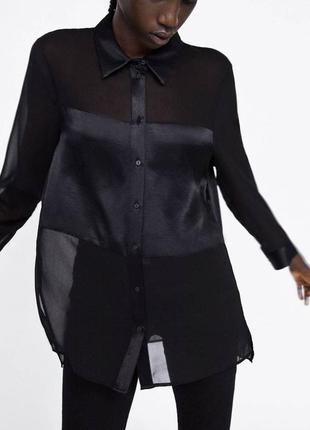Черная блуза большого размера zara