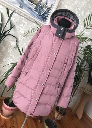 Батал 22 натуральный пуховик зимняя пуховая куртка пух/перо