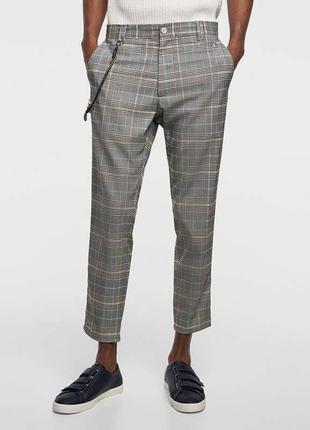 Мужские брюки в клетку zara