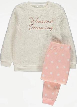 Пижама флисовая детская для девочки george 210905