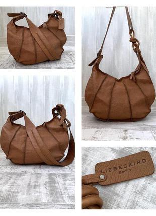 Кожаная сумка liebeskind натуральная кожа