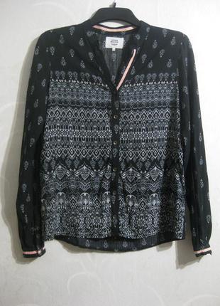Классная чёрная рубашка с принтом орнамент denim hunter