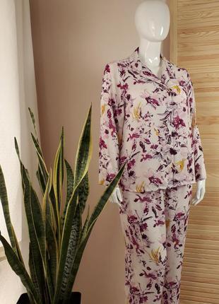 Пижама шифоновая цветочная