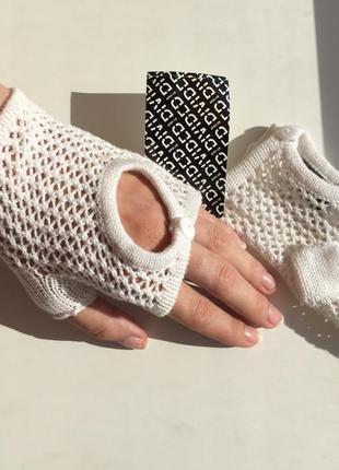 Новые митенки h&m hm  вязаные варежки с биркой one size перчатки