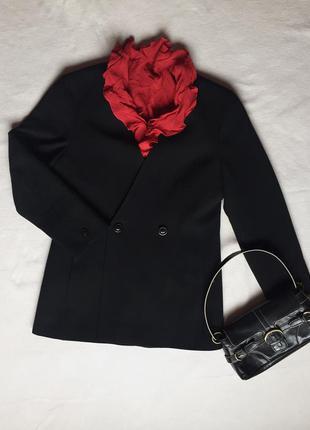 Удлинённый пиджак жакет бренд marella италия шерсть размел l 40 xl 42